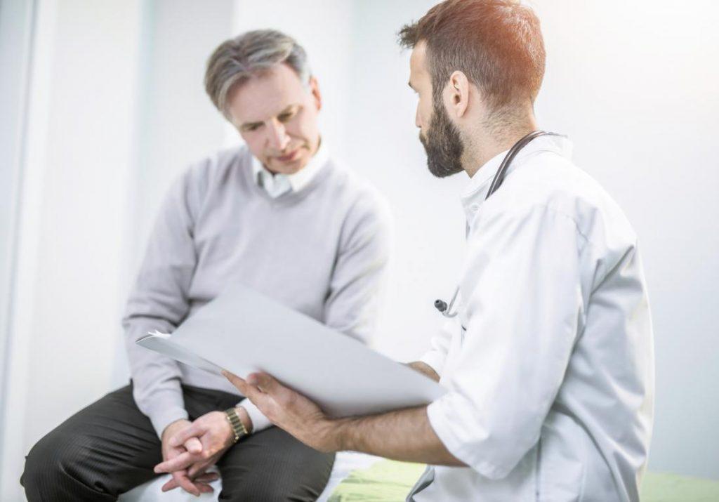 Konsultation eines Prostata-Arztes